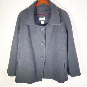 Eva Travala Women's Black Wool Jacket Sz 3 L - XL